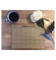 Calendario / planificador chico kraft