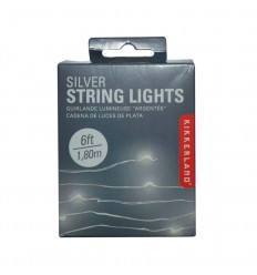 strings lights silver